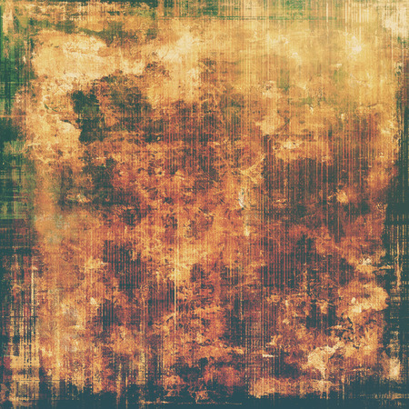 aging: Aging grunge texture, old illustration. With different color patterns: yellow (beige); brown; green; black Stock Photo