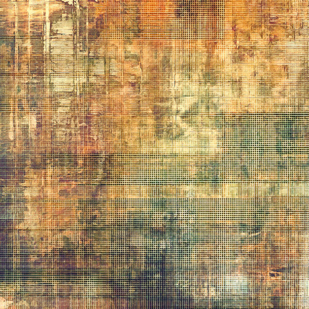grime: Old grunge background with delicate abstract texture and different color patterns: yellow (beige); brown; green; gray