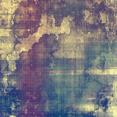 threadbare: Old abstract grunge background for creative designed textures. With different color patterns: yellow (beige); brown; purple (violet); blue Stock Photo