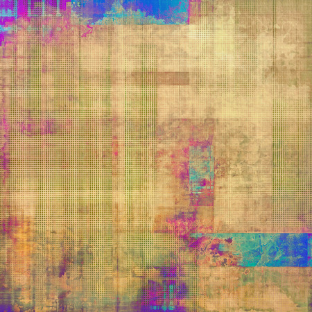 threadbare: Old texture - ancient background with space for text. With different color patterns: yellow (beige); brown; purple (violet); blue
