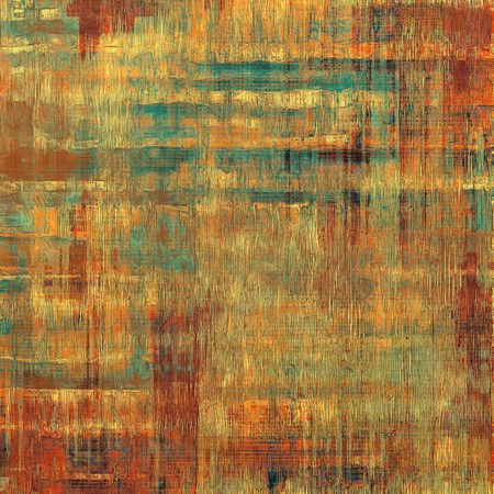 grime: Cracks and stains on a vintage textured background. With different color patterns: yellow (beige); brown; red (orange); cyan
