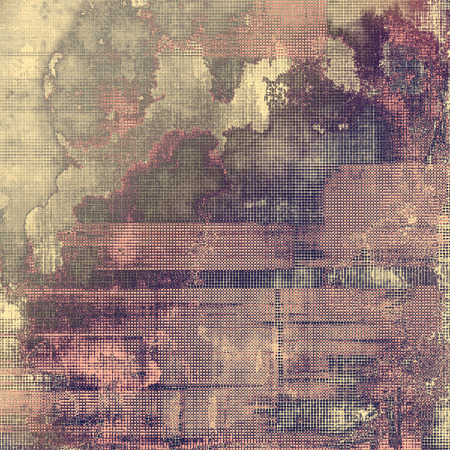 crosshatching: Old Texture. With different color patterns: brown; gray; purple (violet); pink Stock Photo