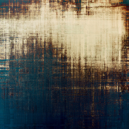black and blue: Vintage old texture for background. With different color patterns: yellow (beige); brown; black; blue
