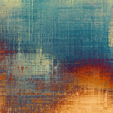 oldfield: Grunge old-school texture, background for design. With different color patterns: yellow (beige); brown; blue; red (orange)