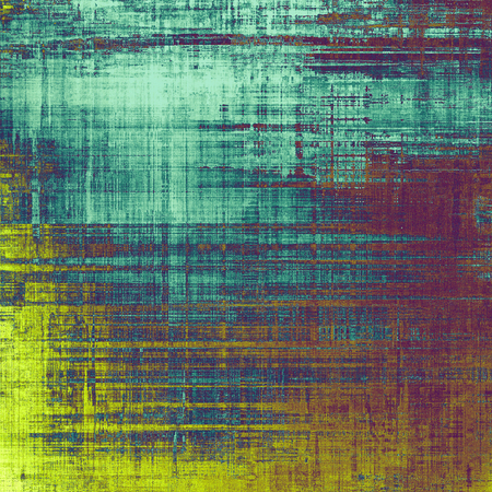 cyan: Old antique texture - perfect background with space for your text or image. With different color patterns: yellow (beige); purple (violet); blue; cyan Stock Photo