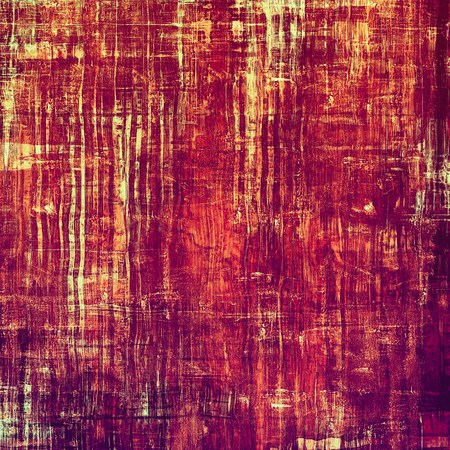 threadbare: Old antique texture - perfect background with space for your text or image. With different color patterns: yellow (beige); purple (violet); red (orange); pink Stock Photo