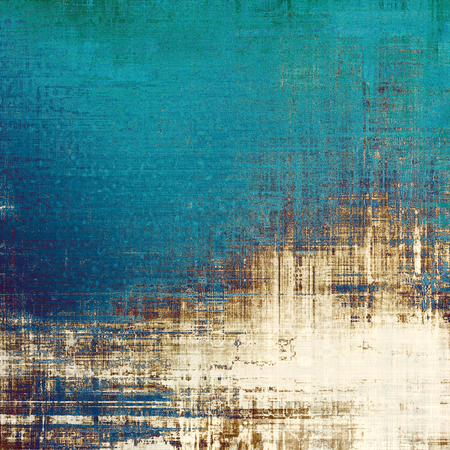 wall decor: Retro background with old grunge texture. With different color patterns: yellow (beige); brown; blue; cyan