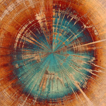intense: Old abstract grunge background, aged retro texture. With different color patterns: yellow (beige); brown; red (orange); blue Stock Photo