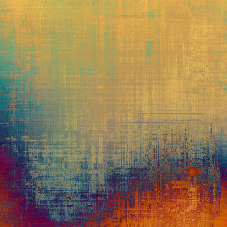 orange color: Vintage texture. With different color patterns: yellow (beige); blue; red (orange); green