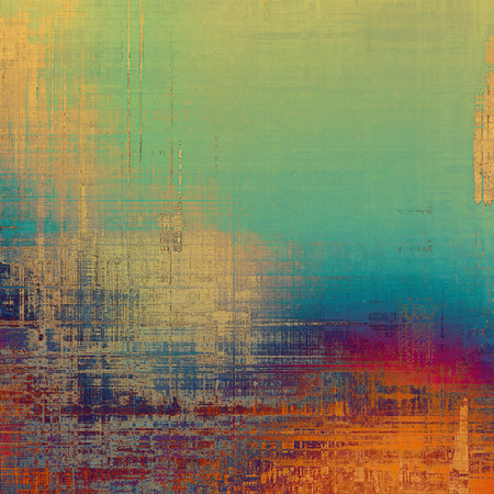 blemish: Old abstract texture with grunge stains. With different color patterns: yellow (beige); blue; red (orange); green Stock Photo