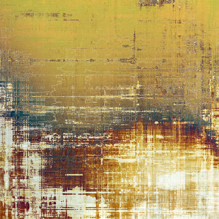 grime: Colorful vintage texture. With different color patterns: yellow (beige); brown; gray Stock Photo