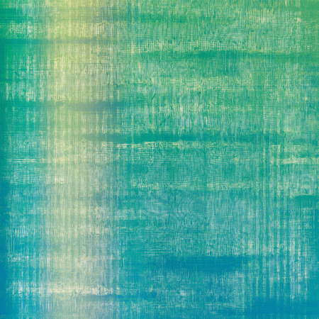 distressed background: Weathered and distressed grunge background with different color patterns: yellow (beige); green; blue; cyan Stock Photo