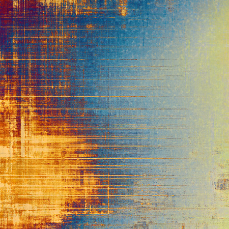 grained: Designed grunge texture or background. With different color patterns: yellow (beige); brown; blue; green Stock Photo