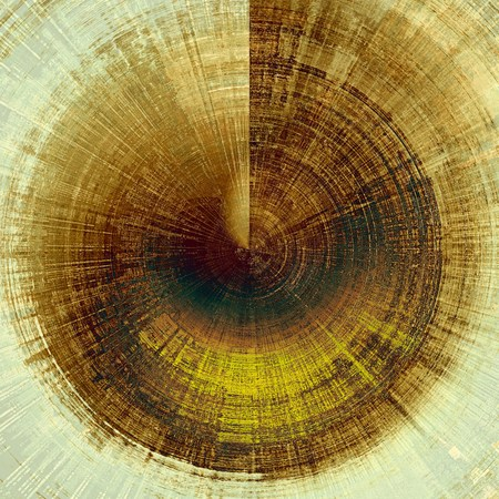 old fashioned sepia: Old abstract texture with grunge stains. With different color patterns: yellow (beige); brown; gray; green