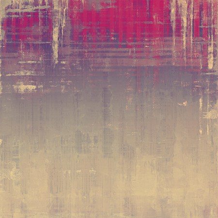 Old grunge template. With different color patterns: yellow (beige); gray; pink; purple (violet) Stock Photo