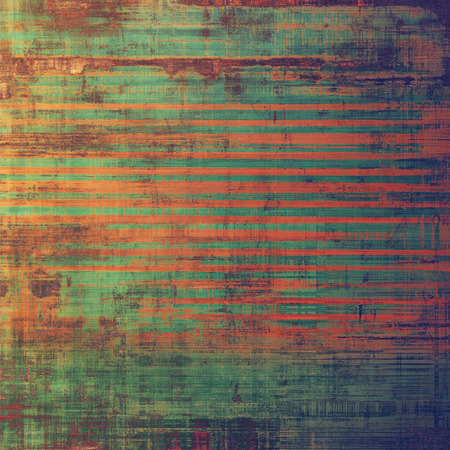 orange texture: Aging grunge texture, old illustration. With different color patterns: brown; green; red (orange); purple (violet) Stock Photo