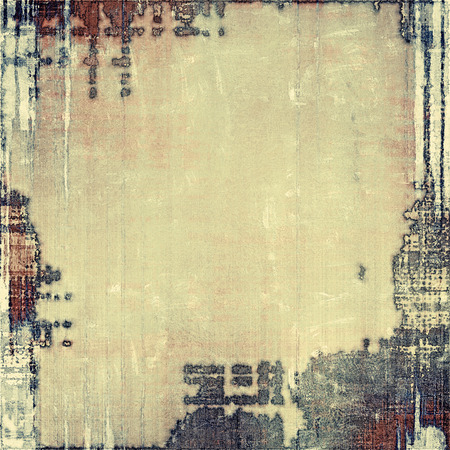 exceptional: Computer designed highly detailed vintage texture or background. With different color patterns: yellow (beige); brown; black; gray Stock Photo