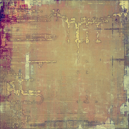 vintage wall: Old abstract texture with grunge stains. With different color patterns: yellow (beige); brown; purple (violet); gray Stock Photo
