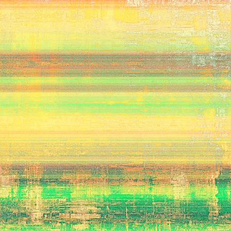 oldfield: Abstract grunge background with retro design elements and different color patterns: yellow (beige); brown; red (orange); green