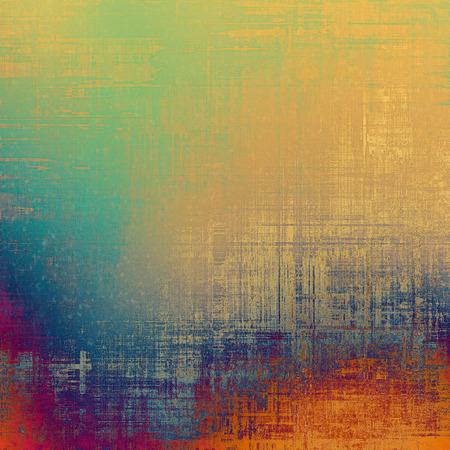 fashion art: Cracks and stains on a vintage textured background. With different color patterns: yellow (beige); red (orange); blue; purple (violet) Stock Photo