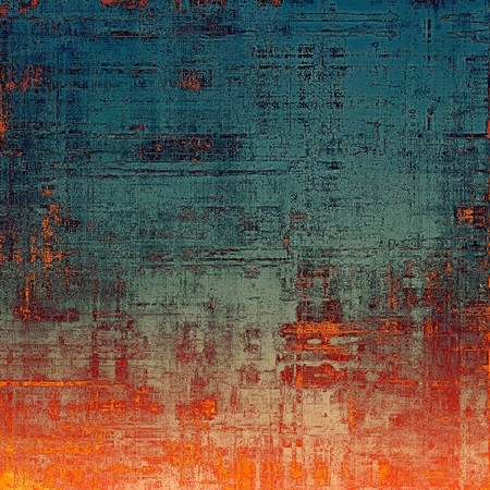 Vintage texture for background. With different color patterns: yellow (beige); blue; gray; red (orange) Stock Photo