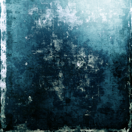 cyan: Designed background in grunge style. With different color patterns: blue; cyan; black; white Stock Photo