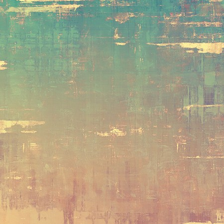 Vintage antique textured background. With different color patterns: yellow (beige); brown; cyan; green