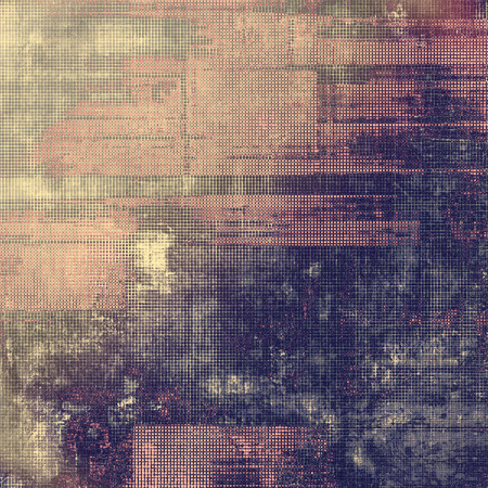 threadbare: Vintage antique textured background. With different color patterns: brown; purple (violet); gray; pink
