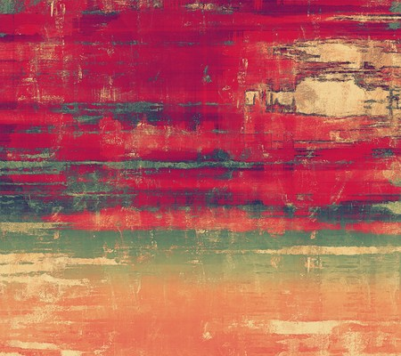 burnt edges: Beautiful vintage background. With different color patterns: brown; green; red (orange); pink