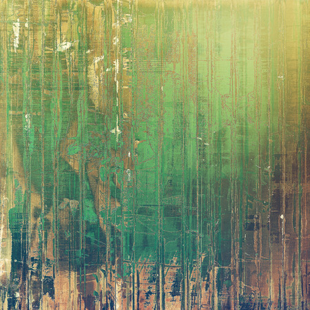 Designed grunge texture or retro background. With different color patterns: yellow (beige); brown; gray; green Stock Photo