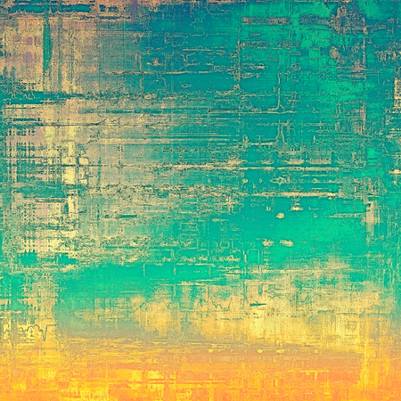 mottled: Antique vintage texture or background. With different color patterns: yellow (beige); brown; blue; green