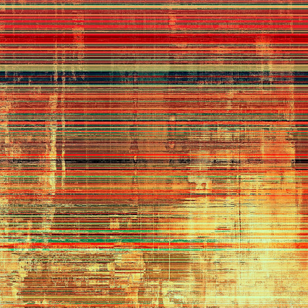Designed grunge texture or retro background. With different color patterns: yellow (beige); brown; red (orange); green