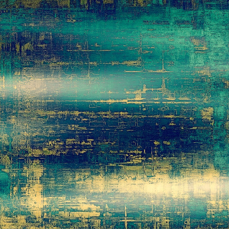 oldschool: Grunge old-school texture, background for design. With different color patterns: yellow (beige); cyan; blue; green Stock Photo