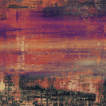 spotted line: Dirty and weathered old textured background. With different color patterns: brown; purple (violet); red (orange); black