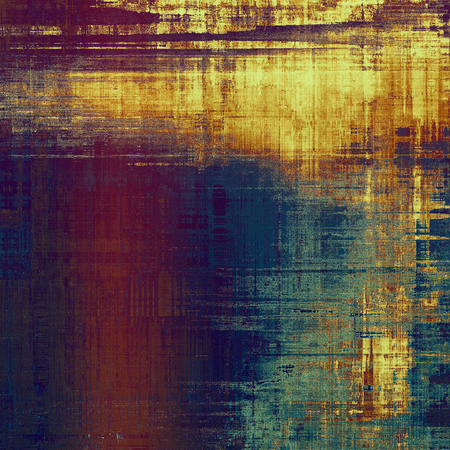 crosshatched: Old texture as abstract grunge background. With different color patterns: yellow (beige); brown; purple (violet); blue Stock Photo