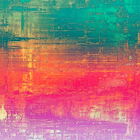 grime: Aged grunge texture. With different color patterns: yellow (beige); red (orange); pink; green Stock Photo