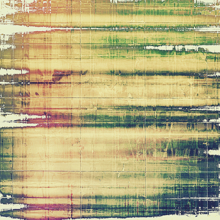 oldschool: Grunge old-school texture, background for design. With different color patterns: yellow (beige); brown; pink; green Stock Photo