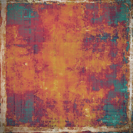 oldfield: Old antique texture or background. With different color patterns: yellow (beige); red (orange); purple (violet); green Stock Photo