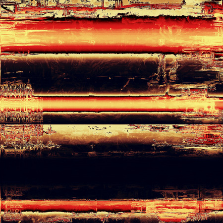 oldschool: Grunge old-school texture, background for design. With different color patterns: yellow (beige); brown; red (orange); black