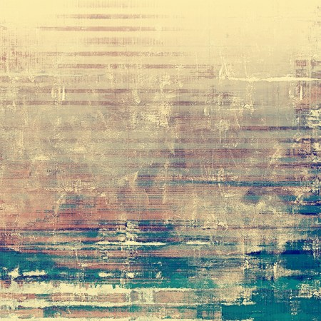 Retro background with old grunge texture. With different color patterns: yellow (beige); brown; blue; gray