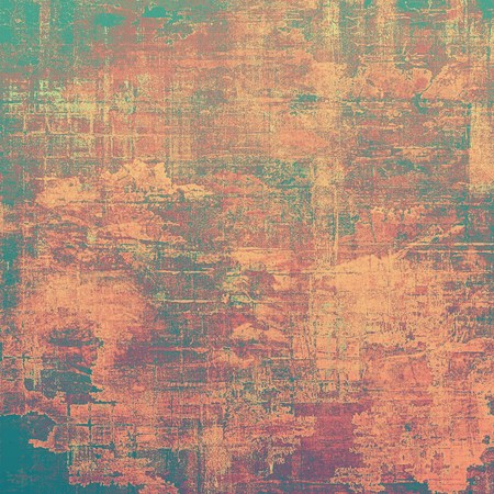 aging: Grunge aging texture, art background. With different color patterns: brown; red (orange); green; purple (violet)