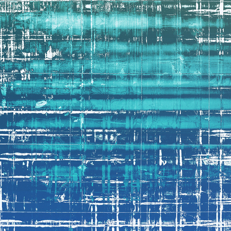 oldstyle: Old-style background, aging texture. With different color patterns: blue; cyan; white Stock Photo