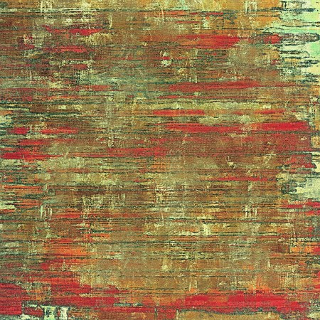 oldfield: Old grunge textured background. With different color patterns: yellow (beige); brown; red (orange); green Stock Photo
