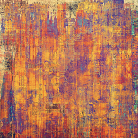 aging: Grunge aging texture, art background. With different color patterns: yellow (beige); red (orange); blue; purple (violet) Stock Photo