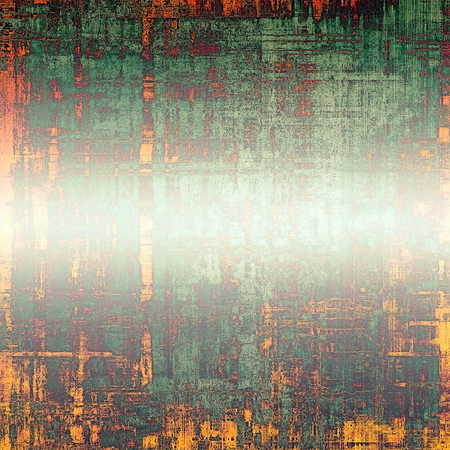 Highly detailed grunge texture or background. With different color patterns: yellow (beige); brown; red (orange); green Stock Photo
