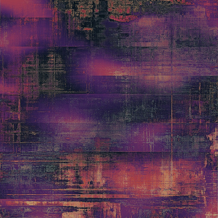 creative arts: Old texture with delicate abstract pattern as grunge background. With different color patterns: purple (violet); black; red (orange); pink