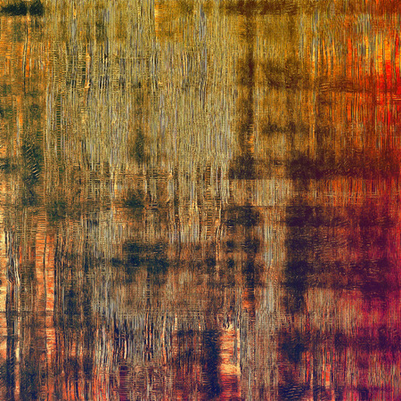 patched: Abstract retro background or old-fashioned texture. With different color patterns: yellow (beige); brown; red (orange); black