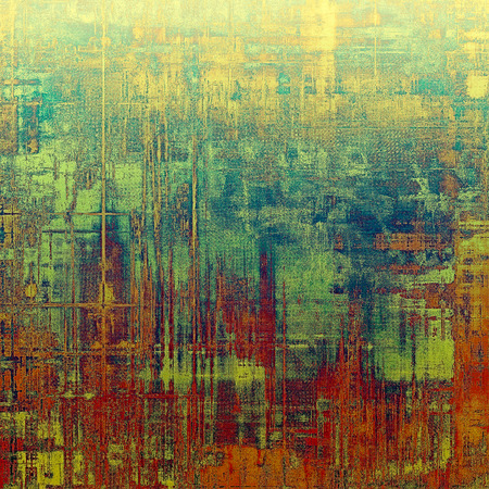 oldest: Abstract grunge textured background. With different color patterns: yellow (beige); brown; blue; red (orange); green Stock Photo