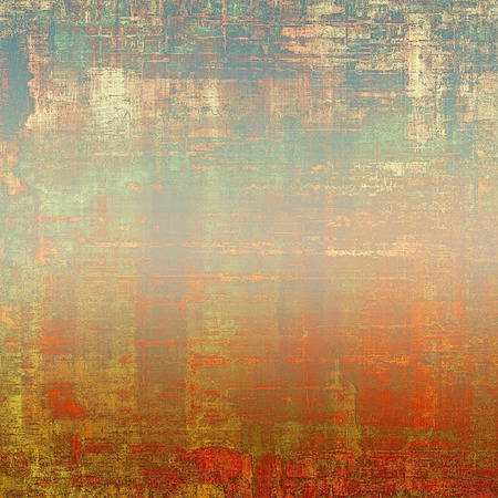 Designed grunge texture or retro background. With different color patterns: yellow (beige); brown; blue; cyan; red (orange) Stock Photo