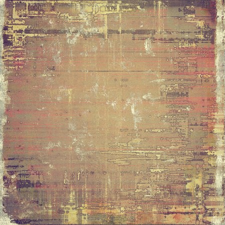 threadbare: Old texture as abstract grunge background. With different color patterns: yellow (beige); brown; gray; pink